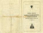 Florence Wesleyan University commencement program, 1856