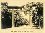 Great Torii of the Meiji Shrine, Tokyo, circa 1946