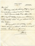 R.M. Carrier letter to J.W. Johnson, 1941