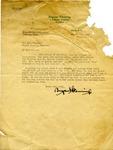 Bryant Fleming letter to J.W. Johnson, 1927