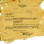 Bryant Fleming letter to J.W. Johnson, 1926