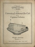 University of Alabama Glee Club program, Memphis, circa 1929