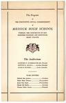 Messick High School, Memphis, commencement program, 1964
