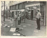 Aftermath of protest on Beale Street, Memphis, 1968