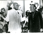 Isaac Hayes receives Album of the Year award, 1972