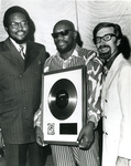 Isaac Hayes with Al Bell and Jim Stewart