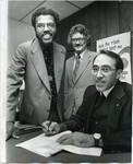 LeMoyne-Owen College and Christian Brothers College officials agree on dual degree plan, Memphis, Tennessee, 1978