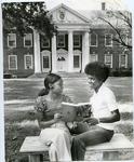 Freshmen reading LeMoyne-Owen College catalog, Memphis, Tennessee, 1974