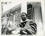 Dr. C. Eric Lincoln speaking at LeMoyne-Owen College, Memphis, Tennessee, 1971
