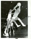 LeMoyne-Owen College basketball team plays Rust College, 1968