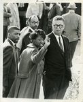 Dr. Hollis F. Price with protesting students at LeMoyne-Owen College, Memphis, Tennessee, 1968