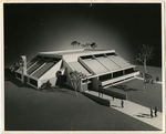 Architectural model of LeMoyne College Student Center, Memphis, Tennessee