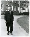 Dr. Hollis Price, president of LeMoyne-Owen College, walking on campus, Memphis, Tennessee