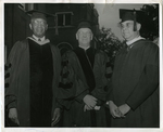 Dr. S.A. Owen, Ernest C. Ball, and Levi Watkins at Owen College, Memphis, Tennessee, 1957