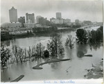 Mud Island covered by floodwater, Memphis, Tennessee, 1973