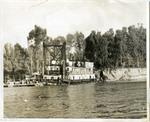 Dredge boat on the Mississippi River, 1959