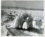 Frozen Mississippi River, Memphis, 1963