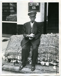 John Poe at the Cotton Exchange, Memphis, TN, 1956