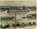 Cotton shipments along the Mississippi River at Memphis, TN