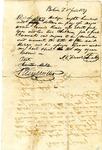 Slave bill of sale, Bolivar, Tennessee, 1837