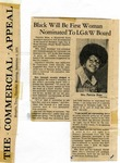 Patricia Walker Shaw Nominated to Memphis Light, Gas, and Water Board, 1973