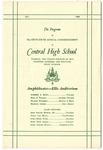 Central High School, Memphis, commencement program, 1966