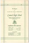 Central High School, Memphis, commencement program, 1962