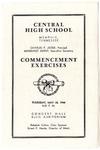 Central High School, Memphis, commencement program, 1944