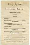 Siena College commencement program, Memphis, 1943