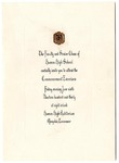 Humes High School, Memphis, commencement invitation, 1930