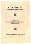 Humes High School, Memphis, senior class play program, 1930