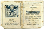 Perel and Lowenstein advertising card, Memphis, circa 1920