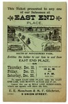 East End Place promotional ticket, Memphis, 1902