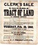 Lurry estate sale notice, Memphis, 1860