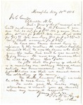 T.S. & S.W. Ayres letter, Memphis, 1856