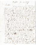 A. Russel letter, Memphis, 1827