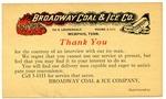 Broadway Coal and Ice Company, Memphis, postcard