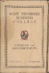 West Tennessee Business College catalog, 1929