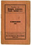 Memphis Conference Female Institute commencement program, 1901