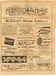 Grand Opera House program, Nashville, 1900