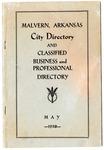 Malvern, Arkansas, City Directory, May 1938