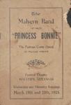 "Malvern, Arkansas, Band, ""Princess Bonnie"" program, 1924"
