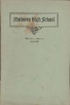 Malvern High School Annual Announcement, 1913-1914