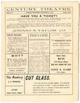 Century Theatre program, Jackson, Mississippi, 1904 November
