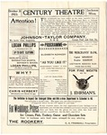 Century Theatre program, Jackson, Mississippi, 1903 October