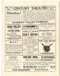 Century Theatre program, Jackson, Mississippi, 1903 September