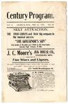 Century Theatre program, Jackson, Mississippi, 1903 February