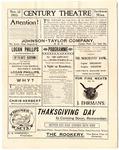 Century Theatre program, Jackson, Mississippi, 1903 November