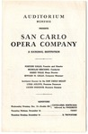San Carlo Opera Company program, Memphis, 1944?