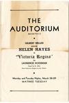 """Victoria Regina"" program, Memphis, 1938"